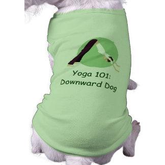 """""""Yoga 101: Downward Dog"""" Dog Tshirt"""