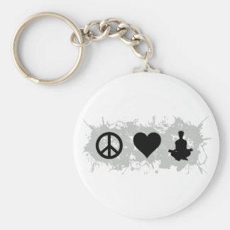 Yoga 1 basic round button keychain