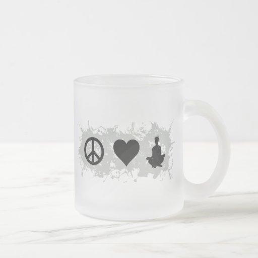Yoga 1 taza cristal mate
