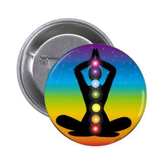 Yoga 2 Inch Round Button