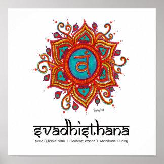 Yoga, 2nd Chakra, Svadhisthana Posters