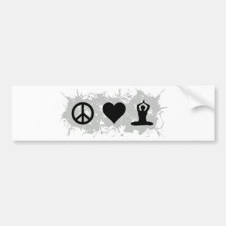 Yoga 3 bumper sticker