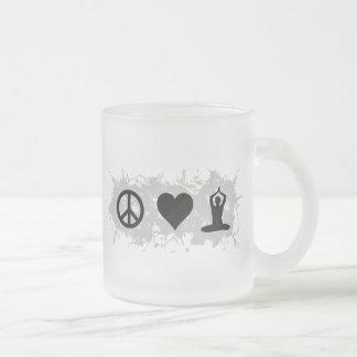 Yoga 3 10 oz frosted glass coffee mug