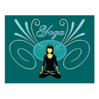 Yoga #3 postcard