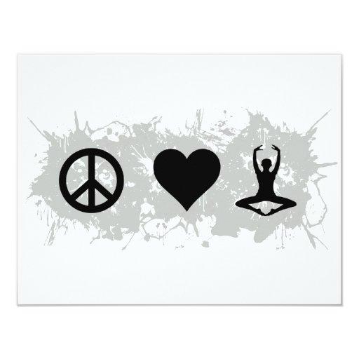 Yoga 4 4.25x5.5 paper invitation card