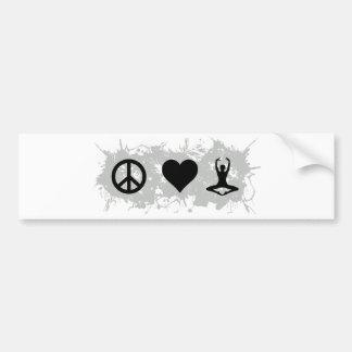 Yoga 4 bumper sticker