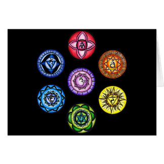Yoga - 7 Chakras Energy Greeting Cards