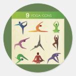 yoga 9 nueve diversos posistions, yogui, chakra,
