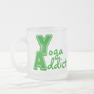 Yoga Addict Frosted Mug - Funny Yoga Gift