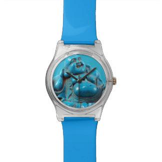 Yoga afortunada tallada turquesa del zen feliz de relojes