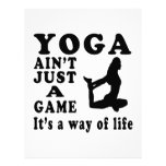 Yoga Ain't Just A Game It's A Way Of Life Letterhead Template