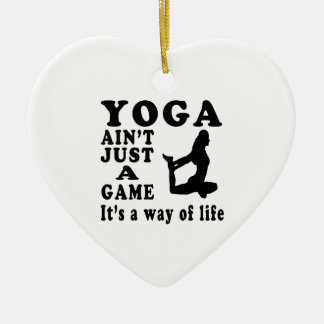 Yoga Ain't Just A Game It's A Way Of Life Christmas Tree Ornament
