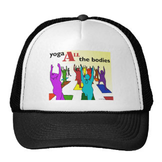 Yoga ALL the bodies! (color) Hats