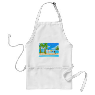 Yoga and beach adult apron