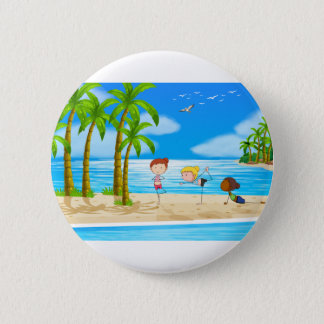 Yoga and beach button
