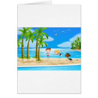 Yoga and beach card