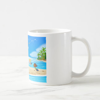 Yoga and beach coffee mug