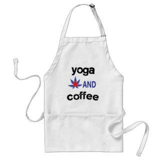 YOGA AND COFFEE ADULT APRON