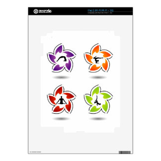 yoga and meditation decals for the iPad 2