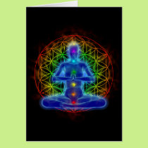 Yoga and meditation - flower of life card