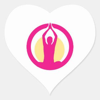 Yoga and meditation graphic heart sticker