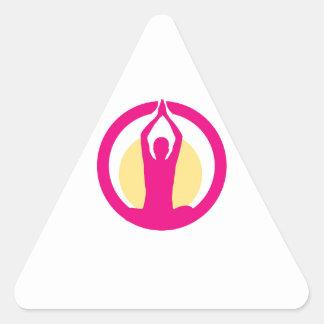 Yoga and meditation graphic triangle sticker