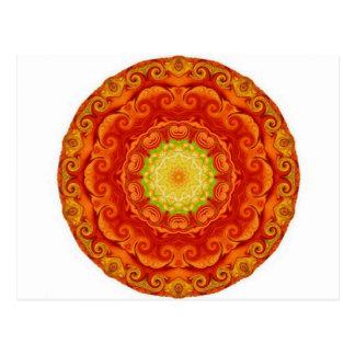 Yoga and Meditation inspired Buddha Art Design Postcard
