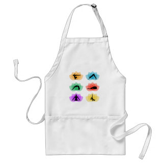 yoga and meditation symbols adult apron