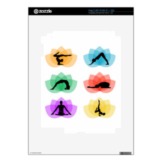 yoga and meditation symbols decal for iPad 2