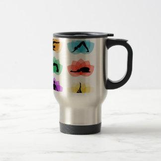 yoga and meditation symbols travel mug