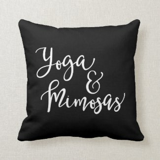 Yoga and Mimosas Pillow