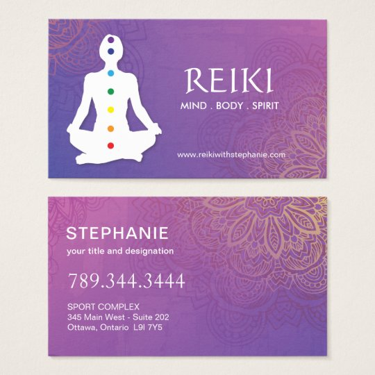 Yoga and reiki business cards zazzle yoga and reiki business cards reheart Images