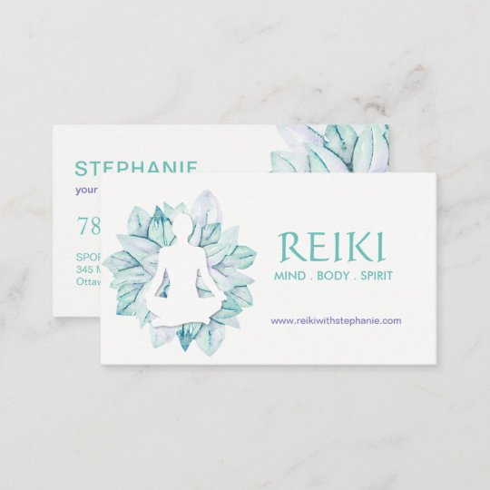 Yoga and reiki business cards zazzle yoga and reiki business cards reheart Gallery