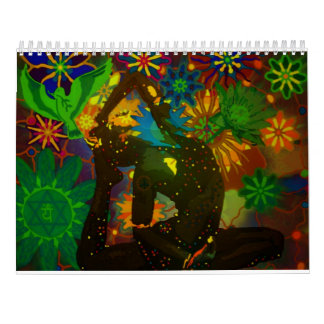 Yoga Art Calendar by Karmym for 2016