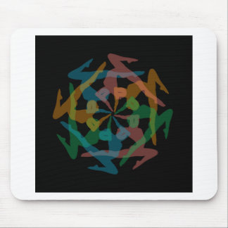 Yoga art mouse pad