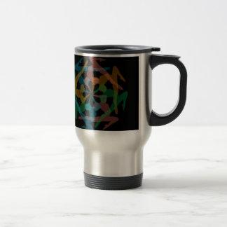 Yoga art travel mug