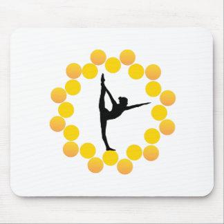 Yoga asana mouse pad