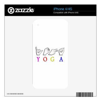 YOGA  ASL FINGER SPELLED DECAL FOR iPhone 4