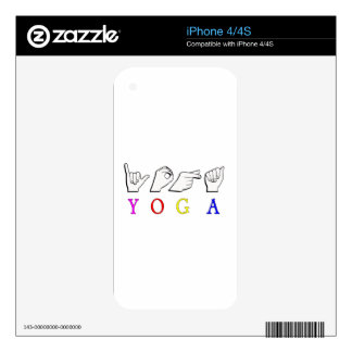 YOGA  ASL FINGER SPELLED SKIN FOR iPhone 4