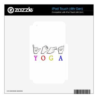 YOGA  ASL FINGER SPELLED SKIN FOR iPod TOUCH 4G