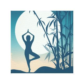 Yoga at Dawn Canvas Print