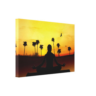 Yoga At Sunrise Canvas Print
