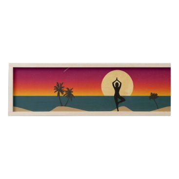 Yoga at Sunset Wooden Keepsake Box