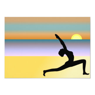 Yoga At The Beach Custom Invitations