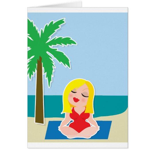 Yoga Background Card