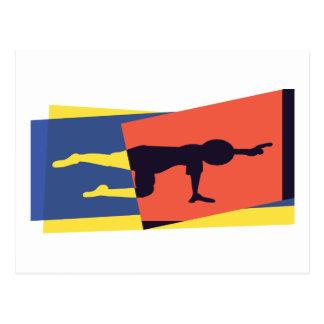 Yoga Balance Pose Post Card