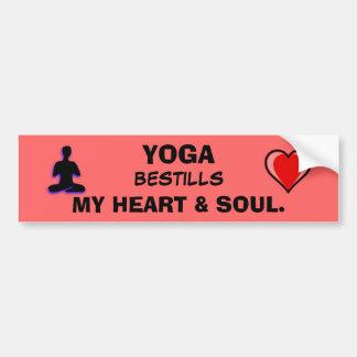 Yoga Bestills mi corazón y alma Pegatina Para Auto