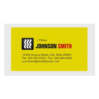 Yoga - blanco amarillo urbano plantillas de tarjetas de visita