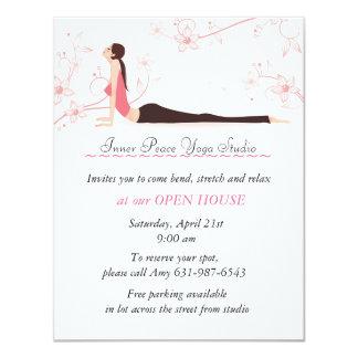 Yoga invitations announcements zazzle yoga blossoms stationery card stopboris Gallery