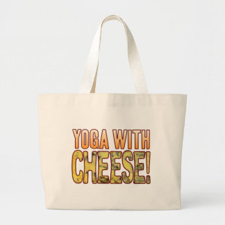 Yoga Blue Cheese Large Tote Bag